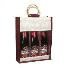 Ecofriendly Jute Wine Bag