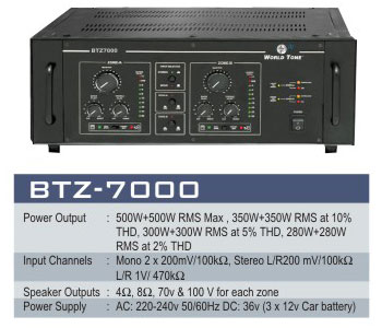 Two Zone Power Pa Amplifiers