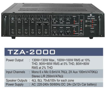 High Power T.z.a. Audio System