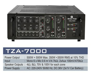 High Power Two Zone Amplifiers