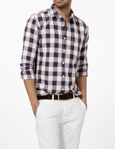 Casual Cotton Check Shirts