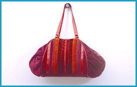 Colorful Velvet Ladies Bag