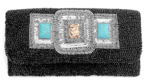 Beaded Eambroidered Clutch Bag