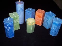 Palm Wax Decorative Candles