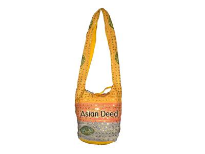 Sequins Embroidered Jhola Bag