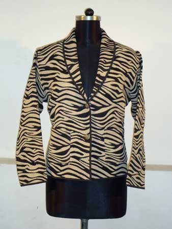 Cotton Zebra Print Jackets
