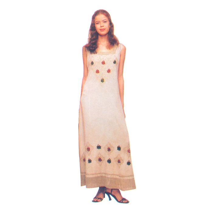 Casual Sundress Long Wear In Rayon Fabric