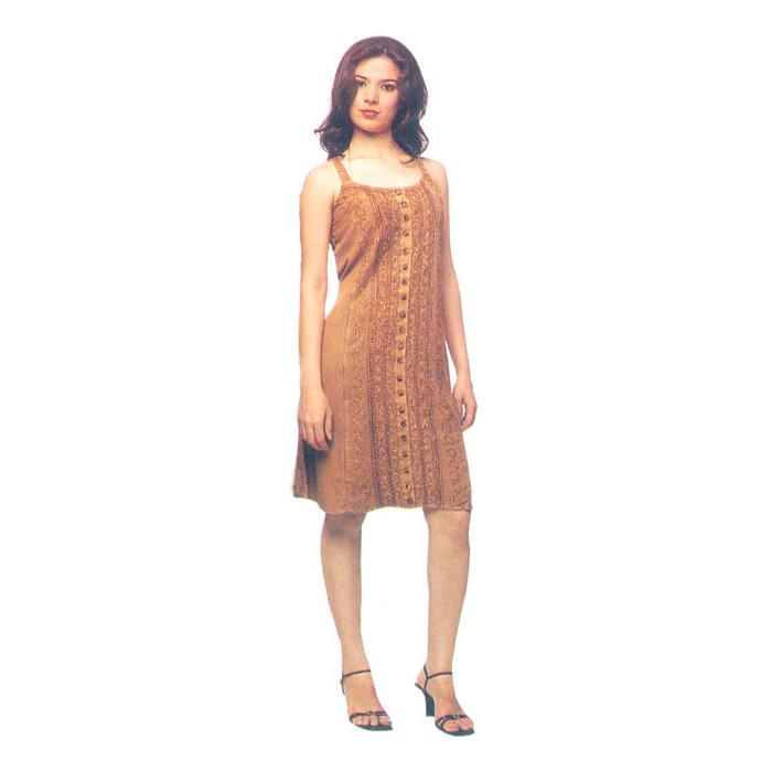Casual Sundress Medium Wear In Ravon Fabric