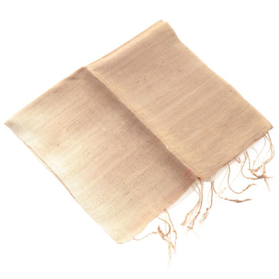 100 Percent Silk Scarves Plain Beige Silk Scarf
