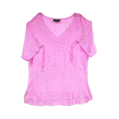 Cotton Pink Tops, Shirts - Summer Wear