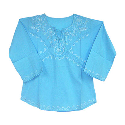 Cotton Women Bule Top Manufacturers And Suppliers