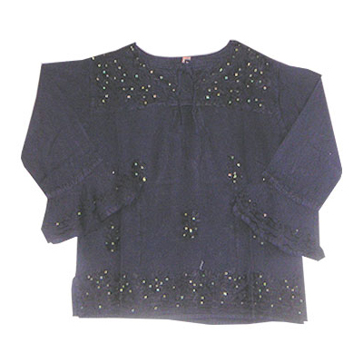 Cotton Embroidery Light Black Tops Suppliers In India