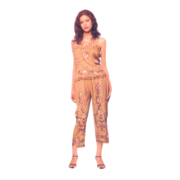 Capri Pant Sets In Rayon Fabric From India