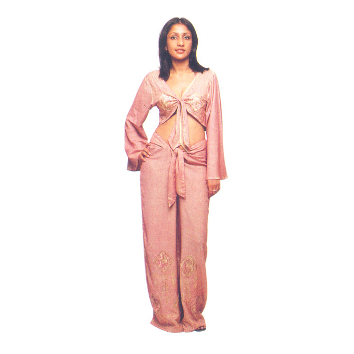Chinese Pajamas With Top In Rayon