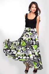 Designer Long Printed Skirt