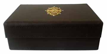 Designer Brown Leather Box