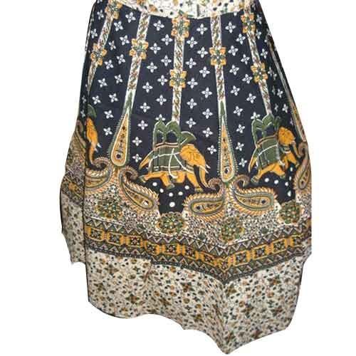 Cotton Long Rap Skirt