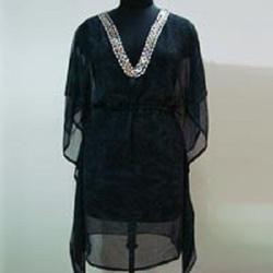 Black Beachwear Kaftan