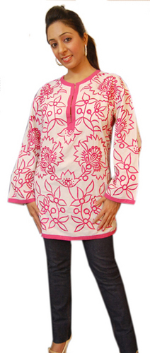 Cotton Embroidered Ladies Tops