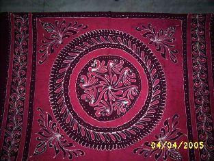Batik Hand Printed Bed Cover