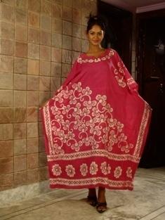 Batik Cotton Ladies Kaftan