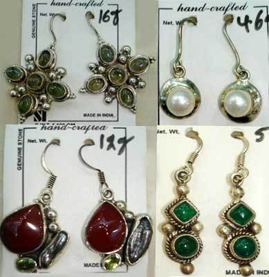 Artificial Gemstone Earrings