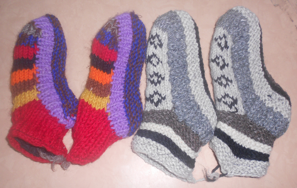 Assorted Colour Woolen Ankle Sockes