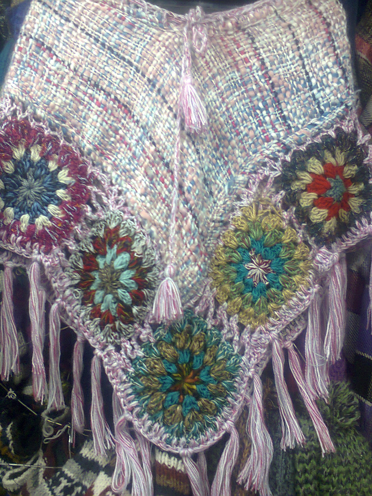 Hand Knitted Ladies Poncho